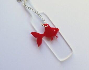 Drunk Fish,Plexiglass Jewelry,Lasercut ,Gifts Under 25