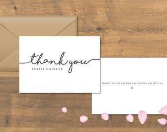 Thank you Wedding Card, Weddings, Personalised Thank you Card, Wedding Stationery, Special Day, Special Thank you