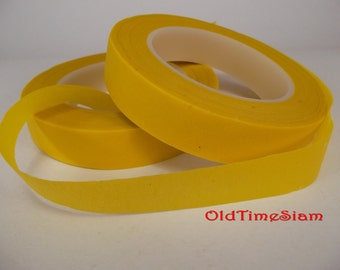 2 Rolls Floral Tape 30 Yards Foral Light Yellow Glue Cohesive 12 mm Pair Artificial Flower Stem Tool Supply