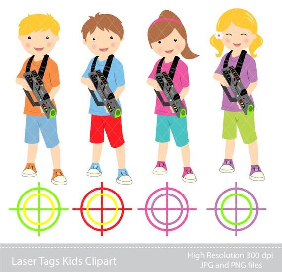 digital clipart laser tag kids clipart instant download rh etsy com laser tag gun clipart laser tag clip art downloadable free