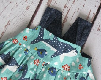 Disney Dress-Finding Dory Shark Nemo with coordinating border-Made to Order up to a size 8-Disney World Disneyland