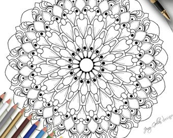 Adult Colouring Page Icing On The Cake
