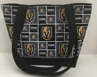 Las Vegas Golden Knights Tote Bag - Quilted Purse - Quilted Tote - Market Bag -Shopping Bag - NFL Tote - NHL Tote - Las Vegas Tote