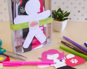Ersthelfer Papier Doll Puppe Craft Kits für Kinder und Erwachsene Set mit 12