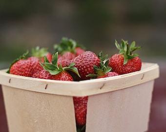 12-  Pint Size Wooden Berry Baskets
