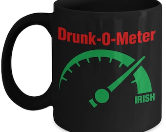 Drunk-O-Meter St. Patrick's Day Funny Irish Mug