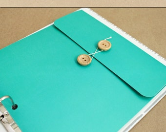 Keepsake Envelope - Turquoise -  Include in your Two Giggles Baby Album