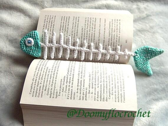 Fische Lesezeichen häkeln Baumwolle textile