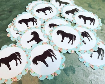 Shabby Chic Pony Stickers
