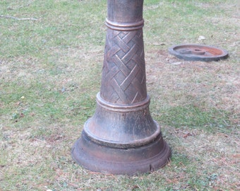 Salvaged Reclaimed Repurposed Recycled Cast Iron Base