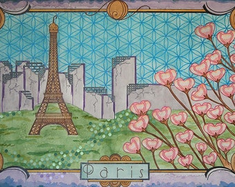 "High Quality Print of ""Postcards from the Future: Paris"""