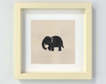 Elephant Nursery Print, Elephant Nursery Art, Nursery Wall Art, Elephant Print, Nursery Decor