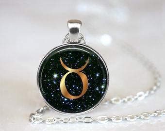 Taurus Pendant, Zodiac Jewelry, Taurus Necklace, Taurus Jewelry, Astrology, Astrological Sign