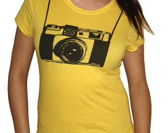 Vintage Camera funny T Shirt - Womens Graphic Tees - Mens Tshirt - Kids Tshirt - Childrens Clothing - Funny Tees - Novelty Gifts Birthday