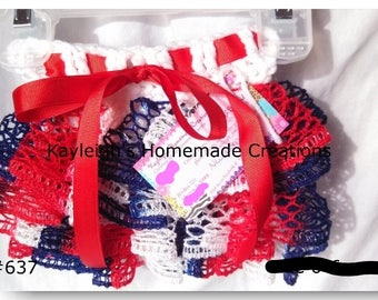 """Red White & Blue Ruffle Skirt 