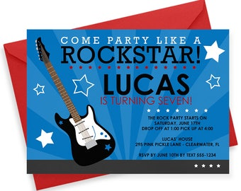 Rockstar Invitation, Rockstar Party, Rock Star Invitation, Rockstar Invite, Rockstar Birthday, Rockstar Birthday Invitation, Rock Star | 295