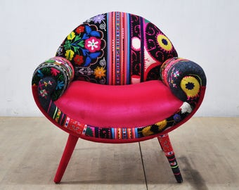 Smiley Armchair - pink love