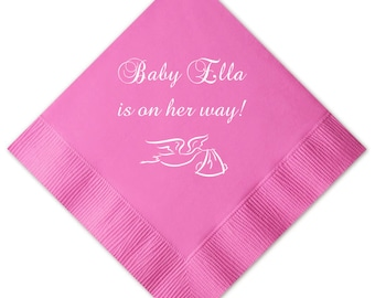 Baby Shower Stork Personalized Napkins