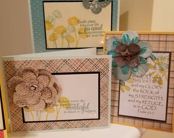 Assorted Handmade Cards - Assorted Handcrafted Cards - Cards of Hope - Handmade Stationary - Handmade Scripture Cards 12.50
