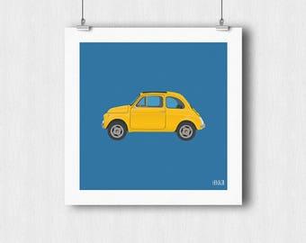 """""""500"""" car poster"""
