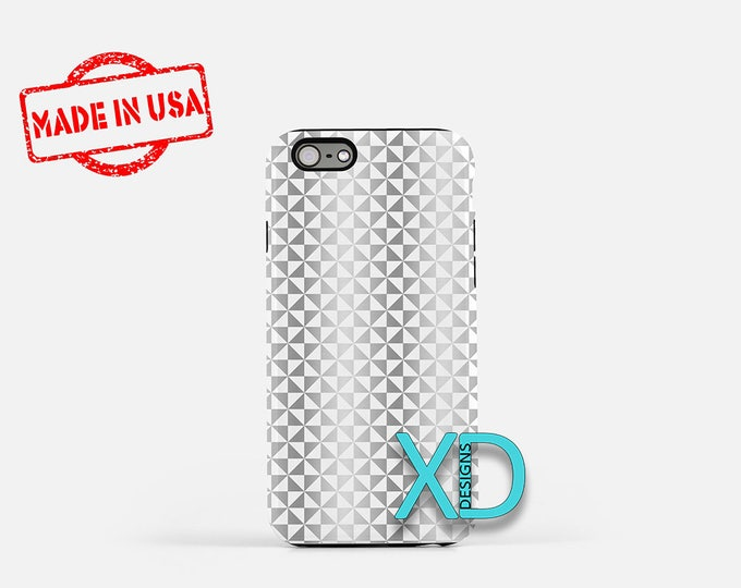 Shiny Phone Case, Shiny iPhone Case, Pinwheel iPhone 7 Case, Silver, White, Pinwheel iPhone 8 Case, Shiny Tough Case, Clear Case,