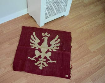 Antique Griffin Wool Wall Hanging