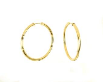 Medium Large 14K Gold Filled Endless Hoop Earrings