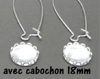 4 kits to create earrings 18mm (4 pairs)