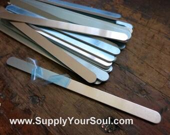 "Aluminum Bracelet Blanks, 3/8""x6"", Metal Cuff Bracelet, 14G Aluminum Stamping Blanks, Cuff Blanks, Choose 4 to 144"