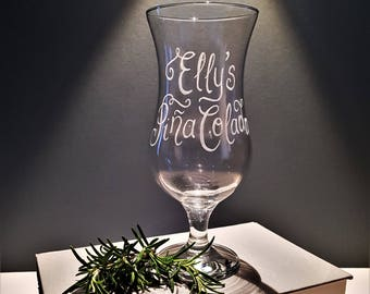 Personalised Cocktail Glasses, Custom Pina Colada Glass, Birthday Gift For  BFF, Girlie Gifts