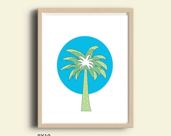 Modern wall decor kids room palm tree baby print printable nursery art kids wall art childrens art  beach decor modern kids art tropical