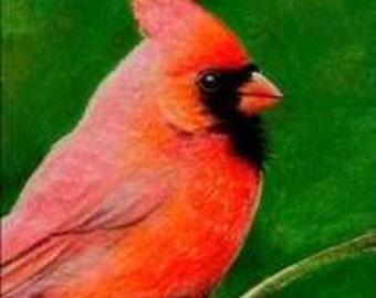 Cardinal Bird Art Bookmark Melody Lea Lamb