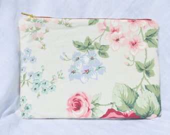 Make Up Bag, Recycled Fabric, Pencil Case, Vintage Fabric, Toiletries Bag, Upcycled Vintage, Ethical Gift, Eco Friendly Gift, Handmade