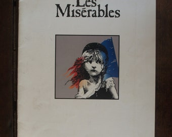 Les Miserables at Broadway Theater Souvenir Brochure and Synopsis – Comes with Cast Sheet – 1988