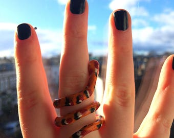 Serpent Ring- Orange