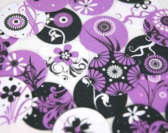 Purple Floral Stickers Envelope Seals Planner Stickers Reminder Stickers Calendar Stickers - set of 12 SES98