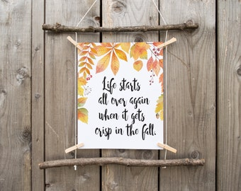 fall printable, fall print, happy fall, autumn decor, fall decor, fall quote, printable art, rustic fall decor , autumn print
