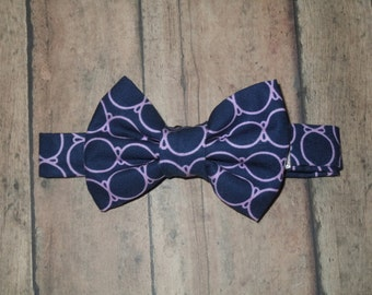 Little Guy Bow Tie, Bow Tie, Navy circles