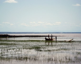 Bringing In the Nets, Fishing Boat, International Travel, Ethiopia Africa 8x12 Fine Art Photograph