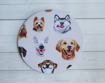 dogs mousepad / Mouse Pad / Mat round or rectangle -  dog mousepad dogs mouse pad - dog selfies