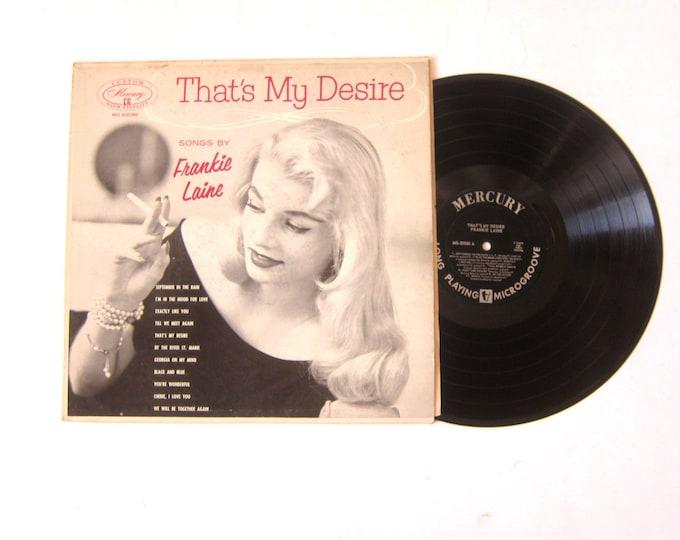 Frankie Laine That's My Desire Vinyl Record Album 12 Inch LP Vintage Music RCA Mercury Record Album
