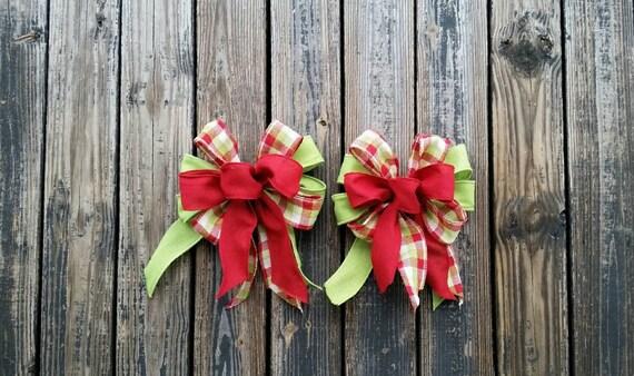 Christmas Bows, Set of Two Large Christmas Bows