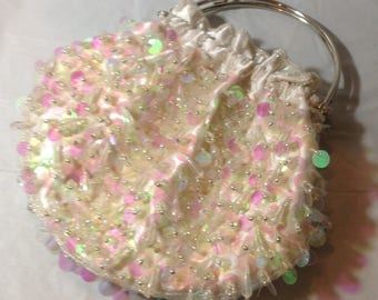 Beautiful Vintage Handbag with Sequins and Beading
