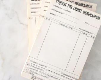 4 full packs Vintage credit memorandum