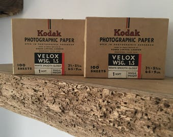 Vintage Kodak photographic paper boxes