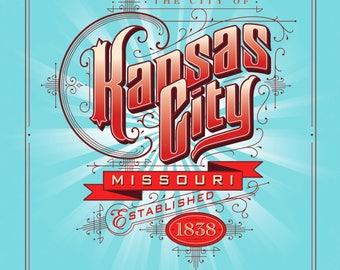 Kansas City, Missouri City Poster (original art)