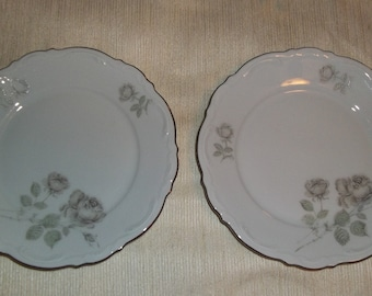 Mitterteich Mystic Rose Bavaria Germany China 2 Saucers Church box 6