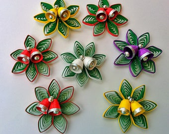 Paper Quilling Christmas Ornaments (set of two)