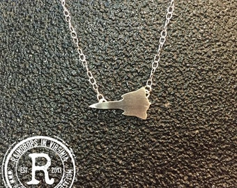 SR-71 Blackbird Silhouette Necklace (Sterling)
