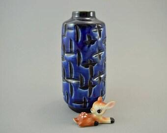 Vintage vase made by Haldensleben / 3045 C   East German Pottery   60s